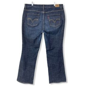 Levi's 580 Boot Cut Jeans Blue Cotton Stretch 18